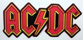 AC/DC - 'Red Logo' Large Embroidered Patch